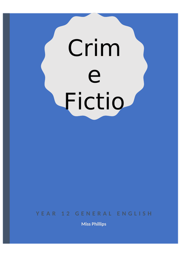 Crime Short Story Unit (Re-writing a fairy tale with a twist)