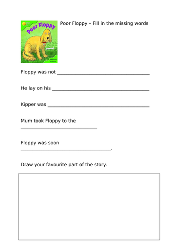 Stage 2 Oxford Reading Tree Comprehension Activities
