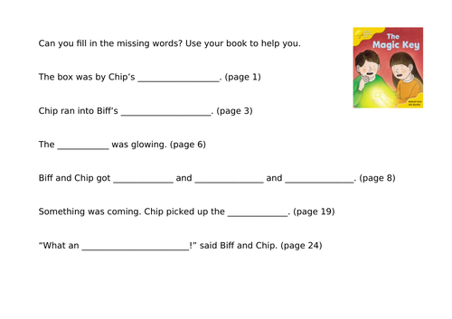 Stage 5 Oxford Reading Tree Comprehension Activities