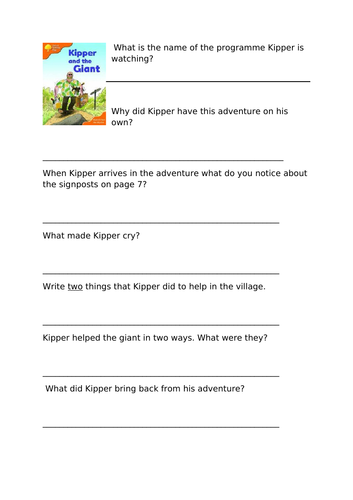 Stage 6 Oxford Reading Tree Comprehension Activities
