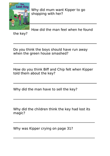 Stage 7 Oxford Reading Tree Comprehension Activities