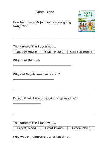 Stage 8 and 9 Oxford Reading Tree Comprehension Activities
