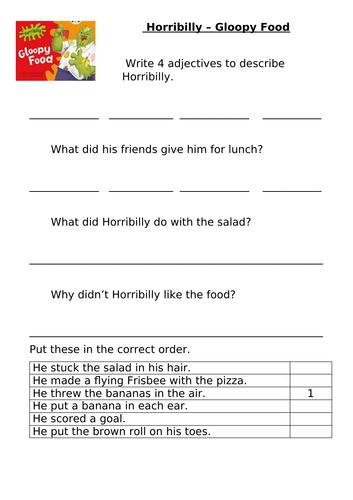 Bug Club Green Comprehension Activities