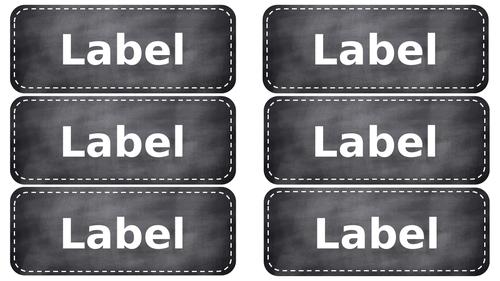 Chalkboard Effect Labels - EDITABLE