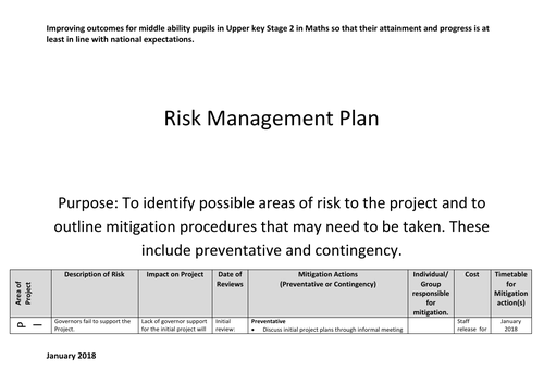 NPQSL 2019 Appendix Risk Management Plan