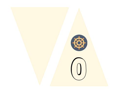 Nautical number bunting
