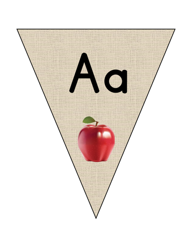 Alphabet bunting: Upper and lower case
