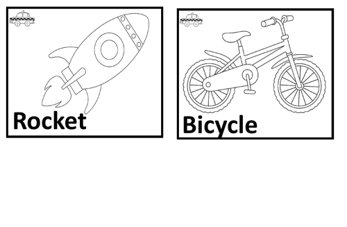 Transport. Coloring pages.