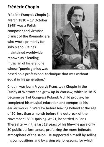 Frédéric François Chopin Handout