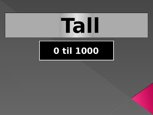 Tall (Numbers in Norwegian) PowerPoint