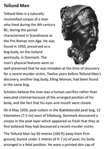 Tollund Man Handout
