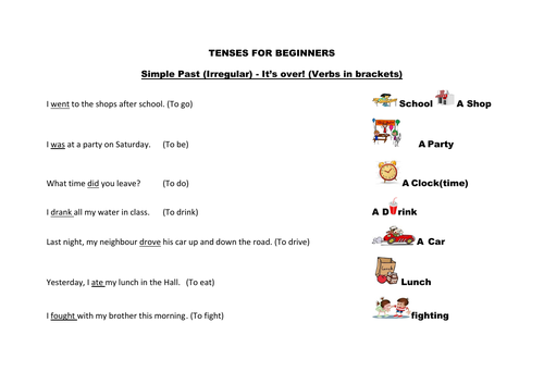A mat for the Present Progressive tense with phrases
