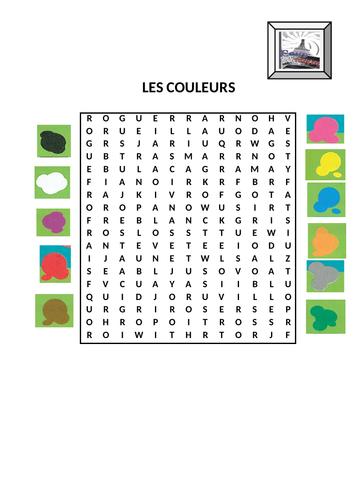 Les couleurs / Colours game