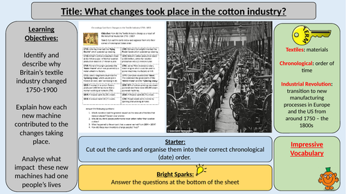 What Changes Took Place in the Cotton Industry - Industrial Revolution