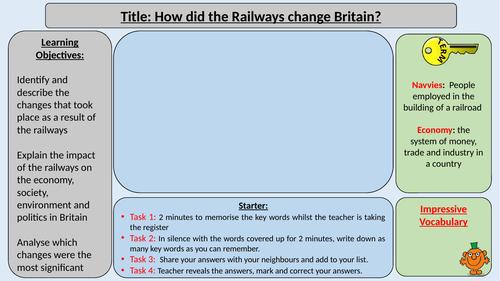 Impact of the Railways - Industrial Revolution