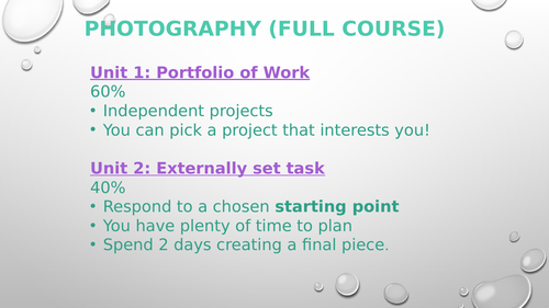 GCSE Photography - Intro to Landscape & Environment Project
