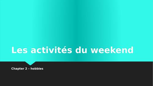 Les activités du weekend flashcard activities