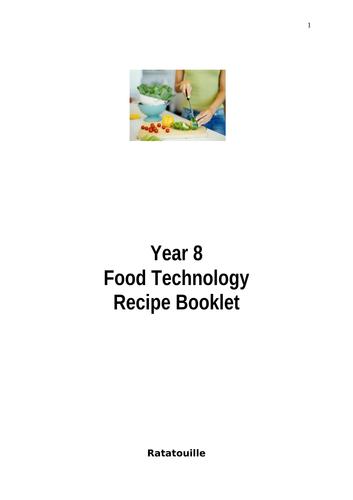 KS3 Food Recipe Booklets