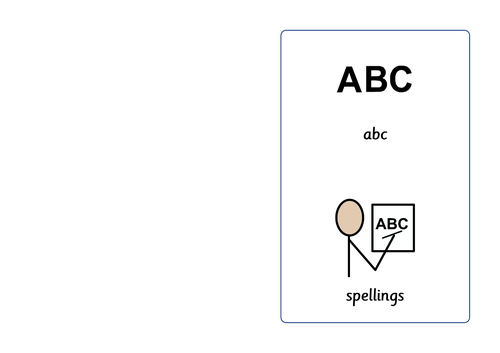 Three letter Alphabet words book!