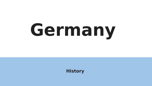 AQA GCSE History Germany powerpoint