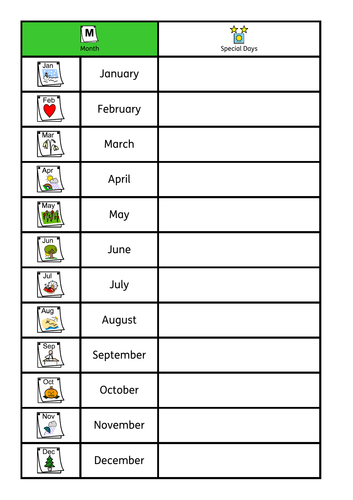 ASD / SEN / KS1 basic time bundle, week days, months, day or night. Sorting / workstation tasks