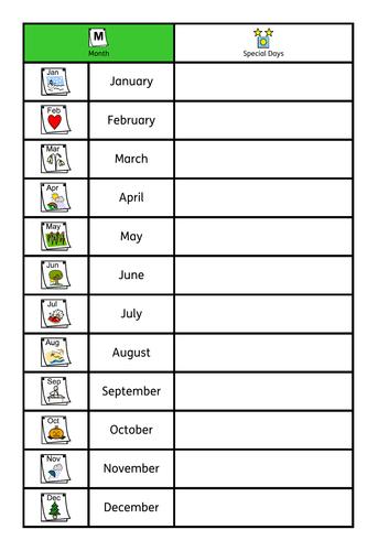 ASD / SEN / KS1 basic time bundle, week days, months, day or night. Sorting / workstation tasks