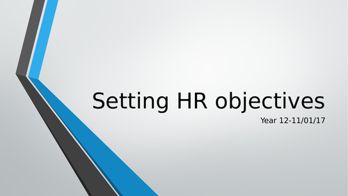 Setting HR Objectives