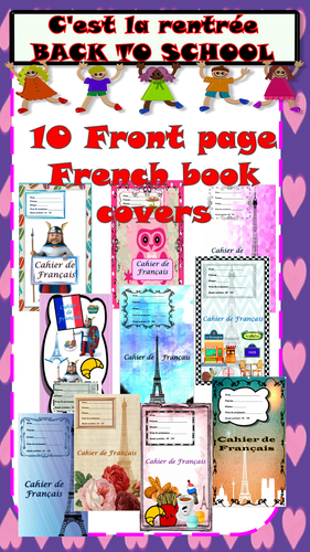 Back to school 10 Front page French book covers