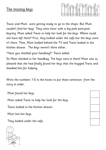 Year 2 - Reading - Sequencing Activities - SATs style