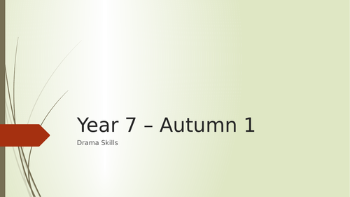KS3 Introduction to drama skills and techniques
