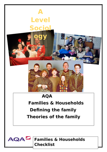 Sociology Theories of the Family booklet