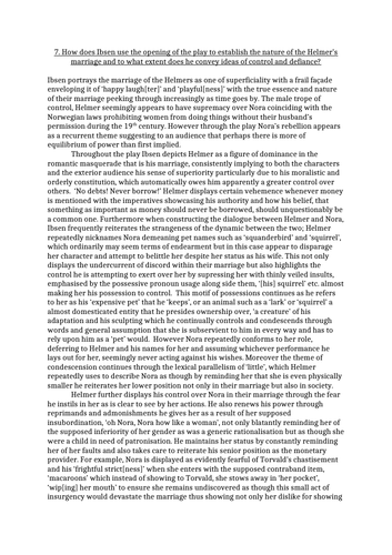 A Doll's House Model Essay