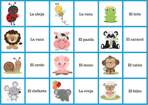 Spanish dominoes (Animals)