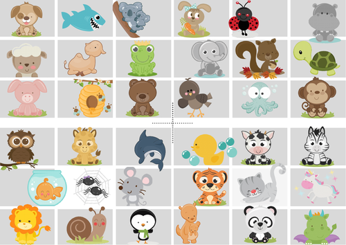 Spanish bundle (animals) (bingo, memory and dominoes) - Juegos en español (animales)