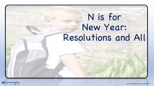 N is for New Year Resolutions and All