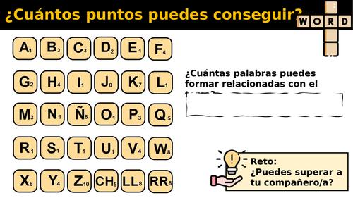 Spanish Scrabble for starter or plenary
