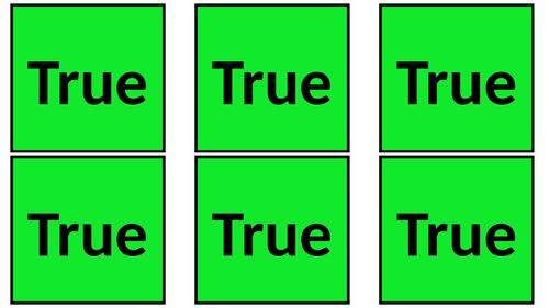 True/False Flashcards