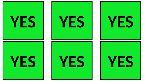 Yes/No Flashcards