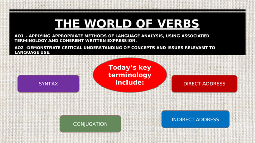 The world of verbs, direct and indirect address