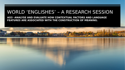 World Englishes research session