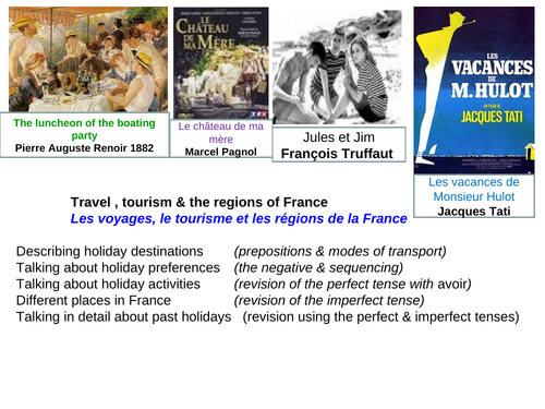 Holiday preferences and destinations