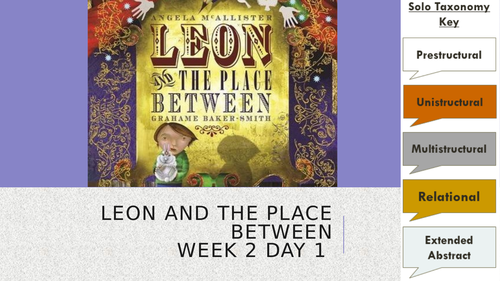 Leon and the Place Between - YEAR 3 READING - 5 Weeks