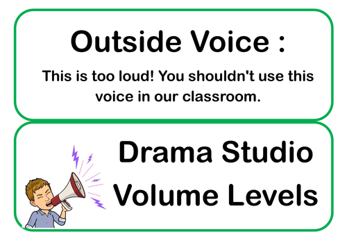 Classroom Voice/Noise/Volume Control Meter