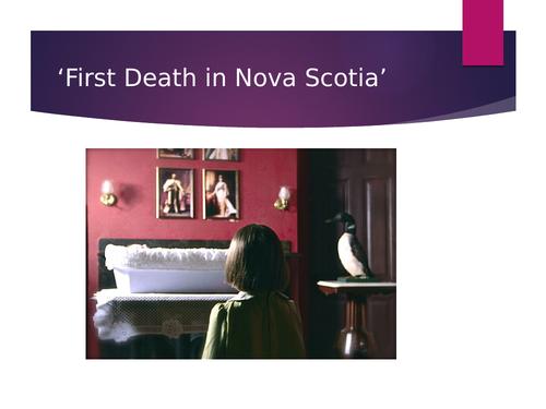 First Death in Nova Scotia Bishop
