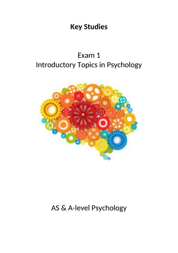 Psychology AQA Exam 1 Key Studies