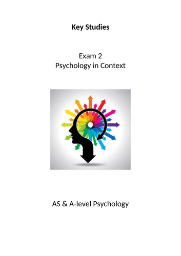 Psychology AQA Exam 2 Key Studies