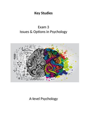 Psychology AQA Exam 3 Key Studies