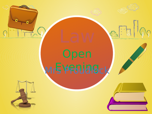 OCR A-Level Law Open Evening Presentation