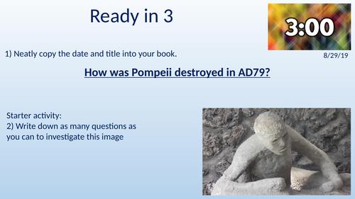 Mount Vesuvius and the destruction of Pompeii - KS3 Y7 Romans
