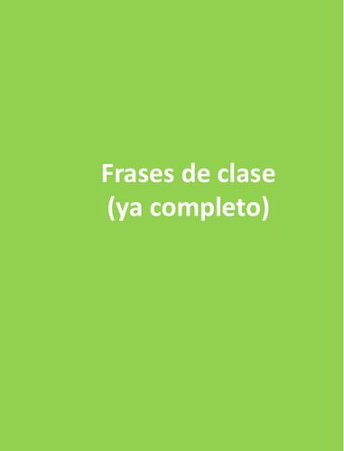 classroom commands Spanish - frases de clase
